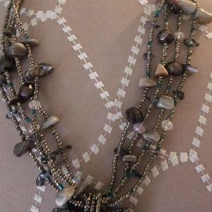 CJ. Jewelry - BEAUTIFUL MULTI STRAND BEADED BLOWN GLASS NECKLACE